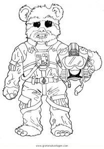 Starwars Ewoks 2 Gratis Malvorlage In Science Fiction Star