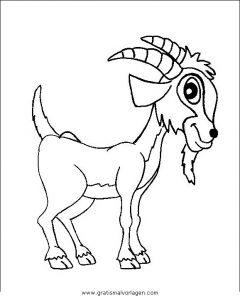 Steinbock 1 Gratis Malvorlage In Schafe Tiere Ausmalen