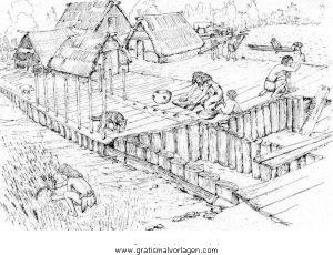 Steinzeit 21 Gratis Malvorlage In Menschen Steinzeit Ausmalen
