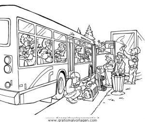 Strada Autobus Gratis Malvorlage In Diverse Malvorlagen Landschaft