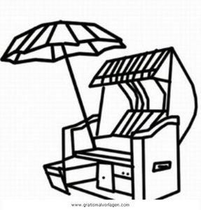 strandkorb 5 gratis malvorlage in beliebt05, diverse malvorlagen - ausmalen