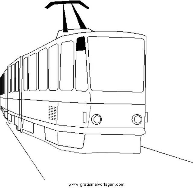 strassenbahn 1 gratis malvorlage in lastwagen