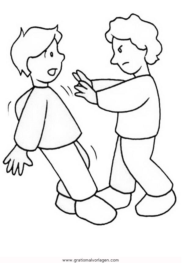 Streit Kinder Malvorlage Malvorlagencr