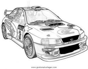 Subaru Rally 4 Gratis Malvorlage In Autos2 Transportmittel Ausmalen