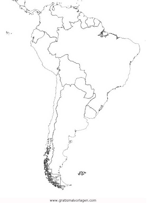 Landkarte Südamerika Gratis Malvorlage In Geografie Landkarten