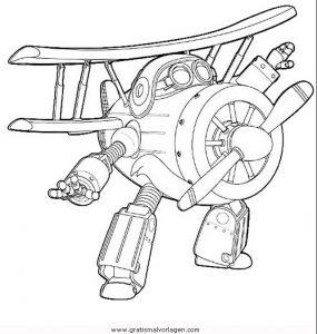 Super Wings 08 Gratis Malvorlage In Comic Trickfilmfiguren Super