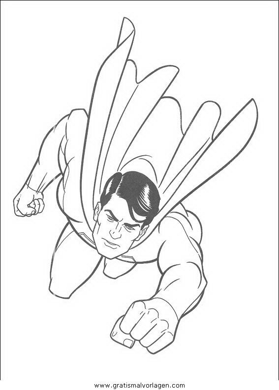 superman 14 gratis malvorlage in comic  trickfilmfiguren