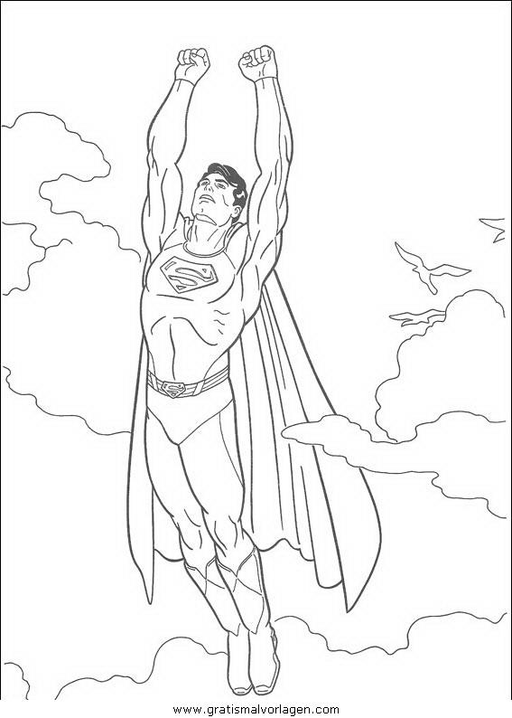 superman 4 gratis malvorlage in comic  trickfilmfiguren