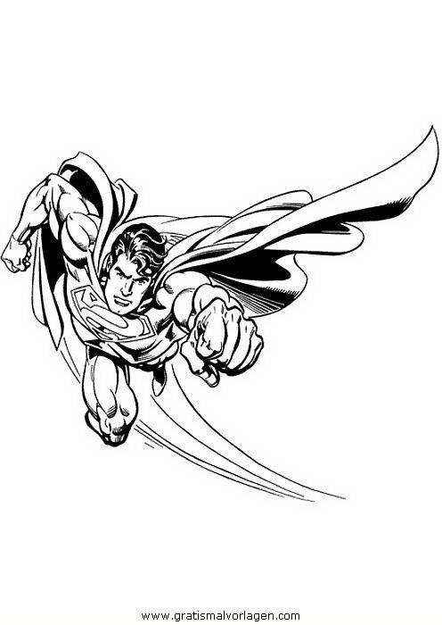 superman 45 gratis malvorlage in comic  trickfilmfiguren