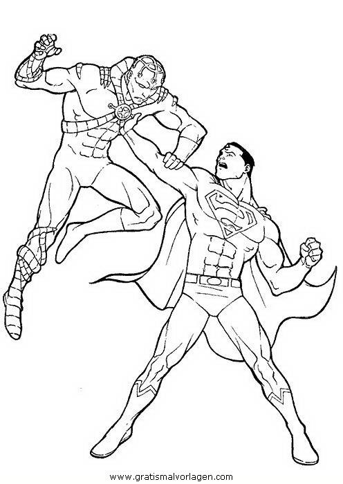 superman 51 gratis malvorlage in comic  trickfilmfiguren
