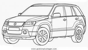 Suzuki Granvitara Gratis Malvorlage In Autos2 Transportmittel