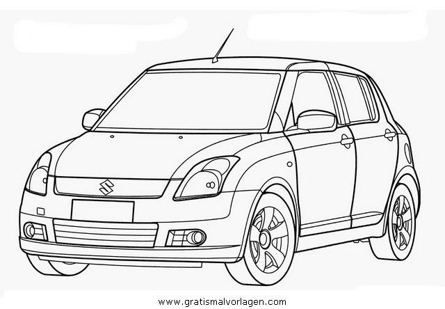 Suzuki Swift Gratis Malvorlage In Autos2 Transportmittel Ausmalen
