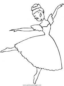 ausmalbild conni ballett