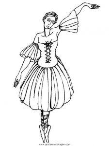 Malvorlage Tanz tanz 23