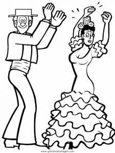 Malvorlage Tanz tanz 27