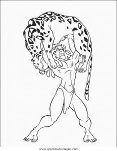 Malvorlage Tarzan tarzan14