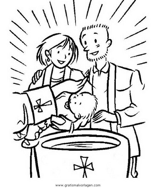 taufe 2 gratis Malvorlage in Religionen, Religiöse Bilder - ausmalen