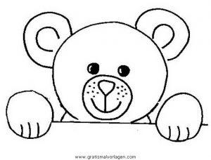 Malvorlage Bären teddy bear 01