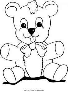 Malvorlage Bären teddy bear 05