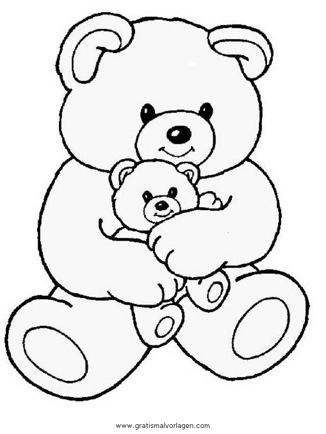 Teddy Bear 06 Gratis Malvorlage In Bären Tiere Ausmalen