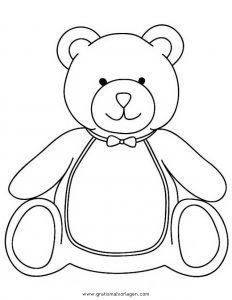 Malvorlage Bären teddy bear 07