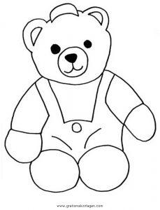 Teddy Bear 08 Gratis Malvorlage In Bären Tiere Ausmalen