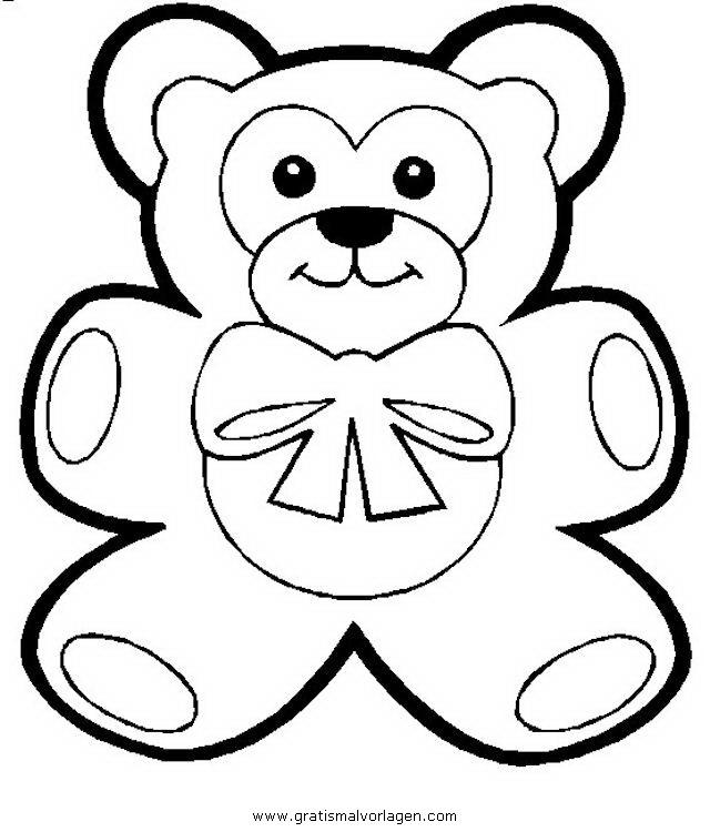 teddy bear 09 gratis malvorlage in bären tiere  ausmalen
