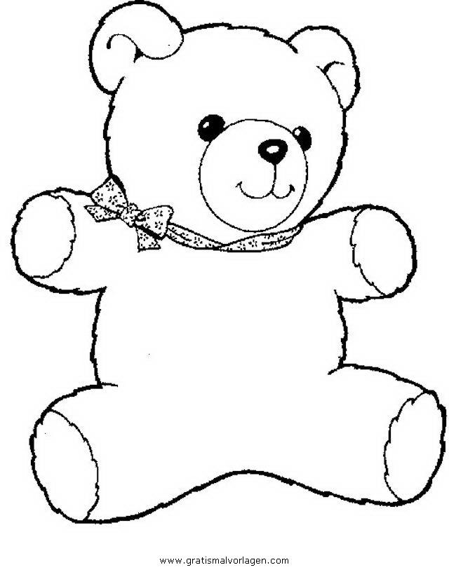 Teddy bear 10 gratis malvorlage in b ren tiere ausmalen for Disegno orso per bambini