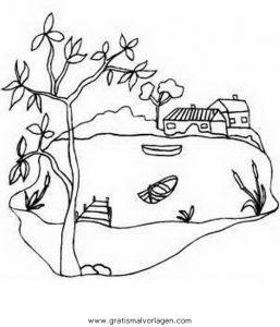 Teich 04 gratis malvorlage in diverse malvorlagen for Disegni di laghi