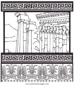 Tempel Gratis Malvorlage In Antikes Griechenland Geografie Ausmalen