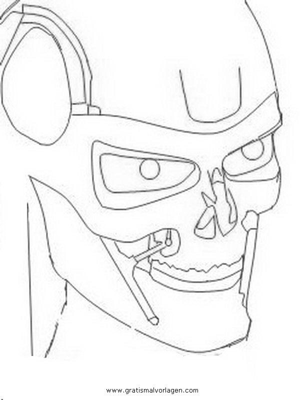 Terminator 6 Gratis Malvorlage In Beliebt03 Diverse