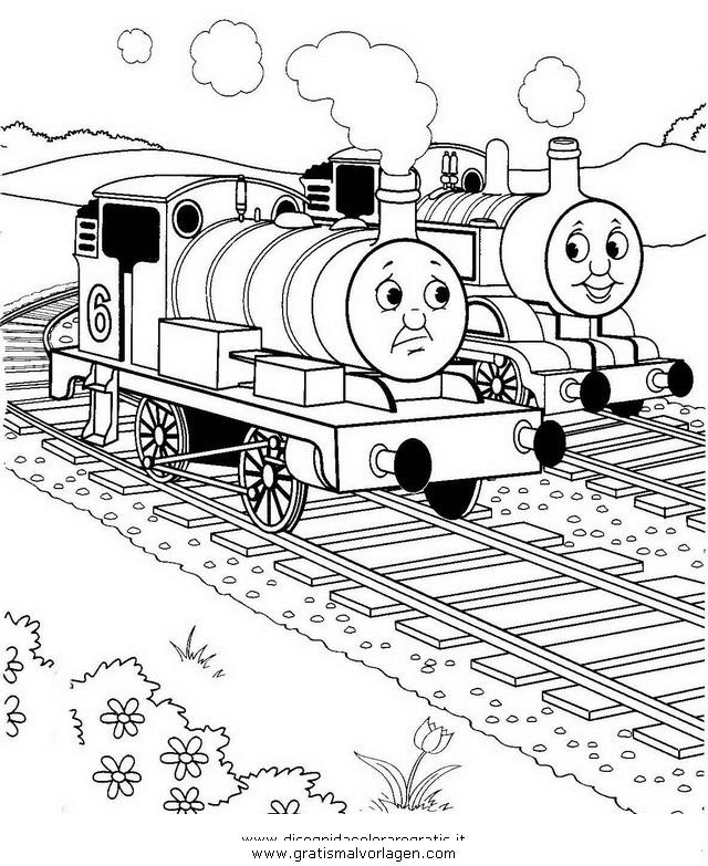 Thomas Train 16 Gratis Malvorlage In Comic Trickfilmfiguren