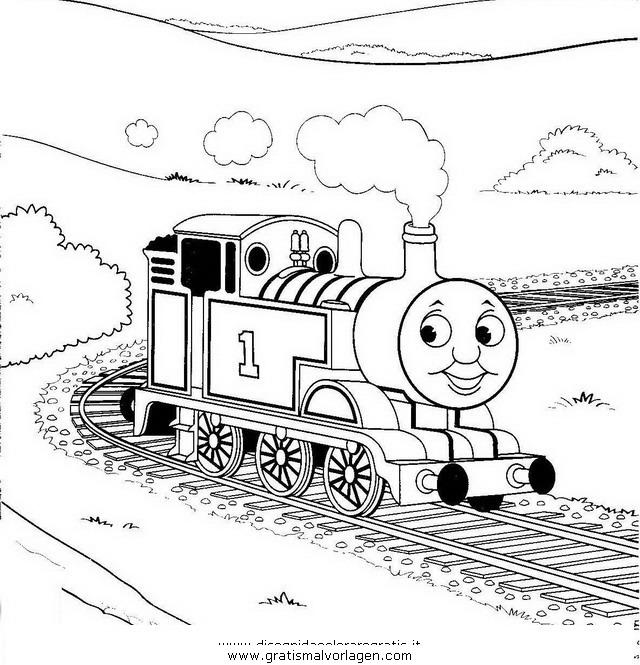Thomas Train 19 Gratis Malvorlage In Comic Trickfilmfiguren