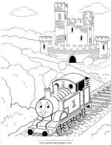 Thomas Train 28 Gratis Malvorlage In Comic Trickfilmfiguren