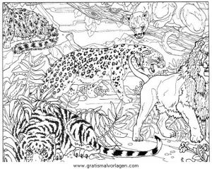 Tiger 05 Gratis Malvorlage In Tiere Tiger Ausmalen