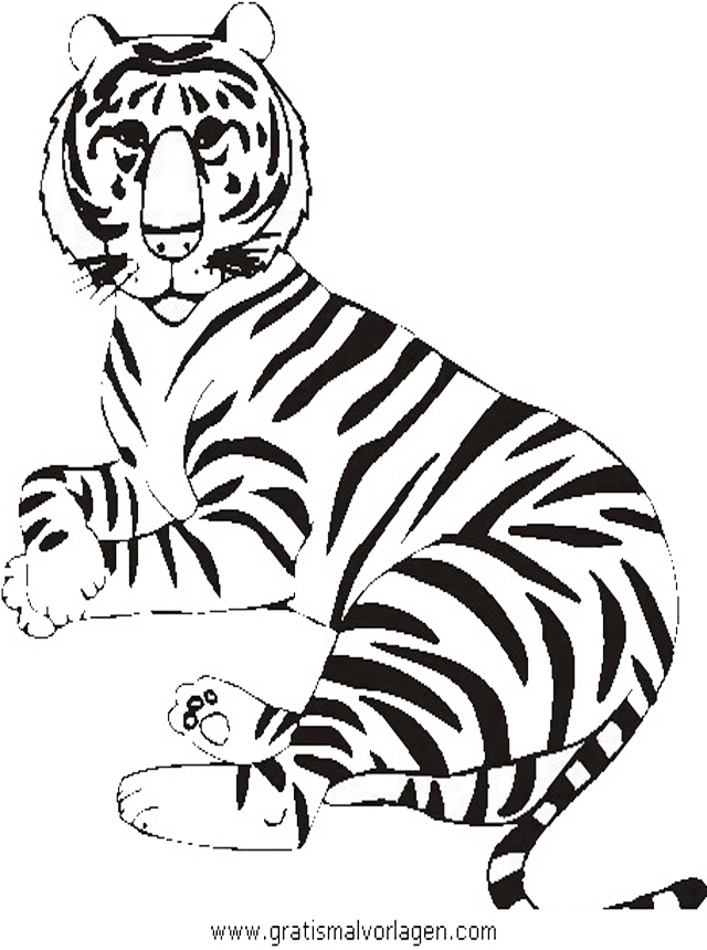 tiger 14 gratis malvorlage in tiere tiger  ausmalen