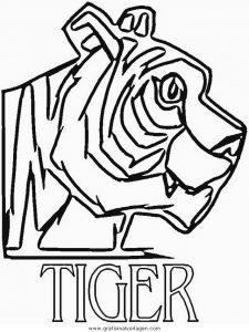 Malvorlage Tiger tiger 23