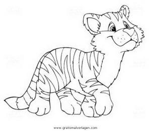 Tigerbaby 1 Gratis Malvorlage In Tiere Tiger Ausmalen
