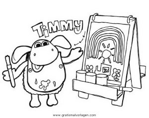 Timmy Schafchen 11 Gratis Malvorlage In Comic Trickfilmfiguren
