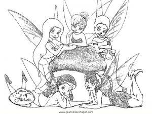 Tinkerbell Trilly 30 Gratis Malvorlage In Comic Trickfilmfiguren