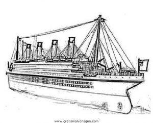 Titanic 02 Gratis Malvorlage In Boote Transportmittel Ausmalen