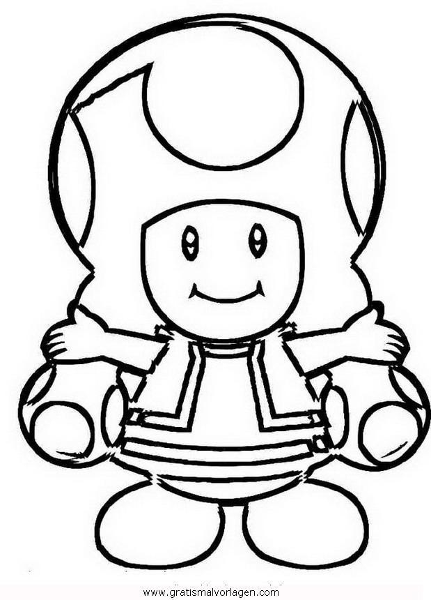 Toadette 9 Gratis Malvorlage In Comic Trickfilmfiguren Mario