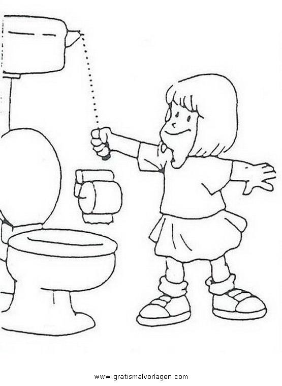 Toilette 06 Gratis Malvorlage In Diverse Malvorlagen