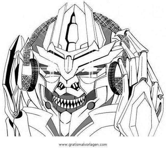 Transformers Megatron 1 Gratis Malvorlage In Comic