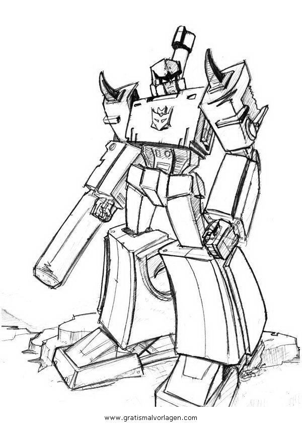 Transformers Megatron 4 Gratis Malvorlage In Comic