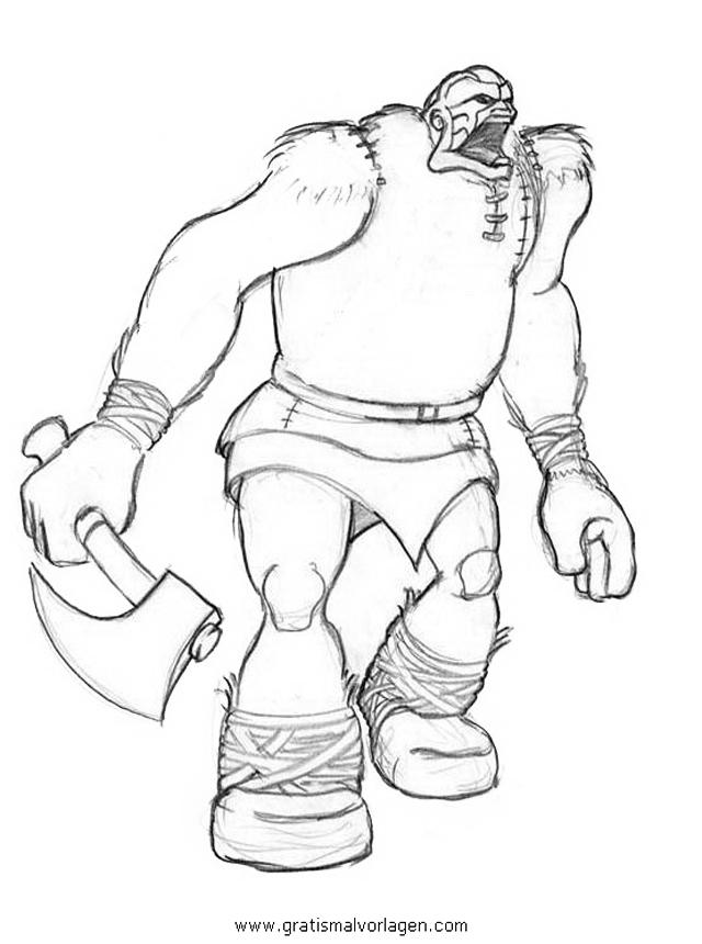 Troll 05 Gratis Malvorlage In Fantasie Monster Ausmalen