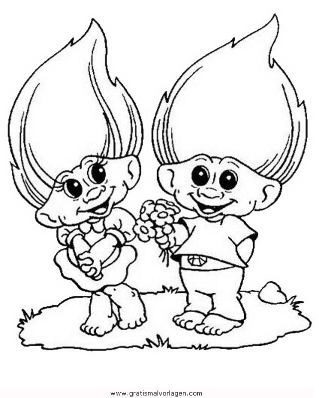 trolls 13 gratis Malvorlage in Comic & Trickfilmfiguren, Trolls ...