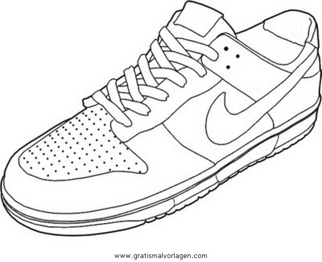 Fantastisch Malvorlagen Von Nike Schuhen Bilder - Ideen färben ...