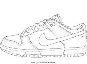 In Malvorlagen Diverse Malvorlage Nike Gratis Turnschuhe 5
