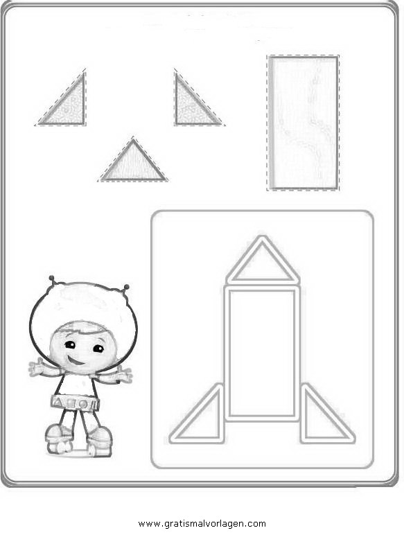 Sendung Maus 09 Gratis Malvorlage In Comic: Umizoomi 09 Gratis Malvorlage In Comic & Trickfilmfiguren